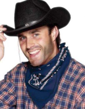 Cowboy Fancy Dress - Bandana Neckerchief - Navy Blue